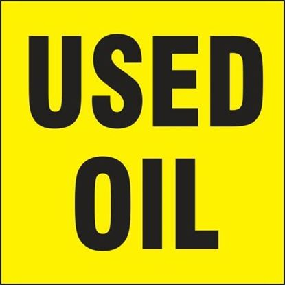 Picture of 34651 - DRUM & CONTAINER LABELS: USED OIL